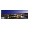 iCanvas Panoramic Cityscape at Night, the Strip, Las Vegas, Nevada Photographic Print on Canvas