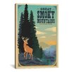 iCanvas 'Great Smokey Mountains ll' by Anderson Design Group Vintage Advertisement on Canvas