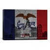 iCanvas Iowa Flag, Capitol Building with Crack Graphic Art on Canvas
