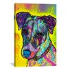 <strong>iCanvasArt</strong> 'Jack Russell' by Dean Russo Graphic Art on Canvas