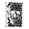 iCanvas Modern Black Splatter Skull Graphic Art on Canvas