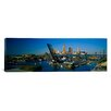 iCanvasArt Panoramic High Angle View of Boats in a River, Cleveland, Ohio Photographic Print on Canvas
