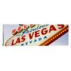 iCanvas Panoramic Close-up of a Welcome Sign Las Vegas, Nevada Photographic Print on Canvas