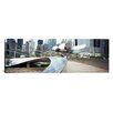 iCanvas Panoramic Footbridge in a Park, Millennium Park, Chicago, Illinois Photographic Print on Canvas