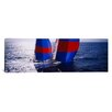 iCanvasArt Panoramic High Angle View of a Yacht in The Sea, Caribbean Photographic Print on Canvas