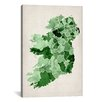 iCanvasArt 'Ireland Watercolor Map' by Michael Tompsett Graphic Art on Canvas