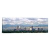 iCanvasArt Panoramic Clouds over Skyline and Mountains, Denver, Colorado Photographic Print on Canvas