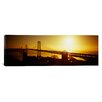 iCanvas Panoramic Sunset Bay Bridge, San Francisco, California Photographic Print on Canvas