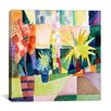 "iCanvasArt ""Garden on Lake Thun Macke"" Canvas Wall Art by August Macke"