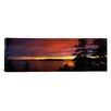 iCanvasArt Panoramic Rosario Strait at Dusk, San Juan Islands, Fidalgo Island Washington Photographic Print on Canvas