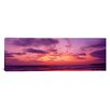 iCanvas Panoramic Clouds in the Sky at Sunset, Pacific Beach, San Diego, California Photographic Print on Canvas