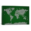 <strong>iCanvasArt</strong> 'Football Soccer Balls World Map' by Michael Tompsett Graphic Art on Canvas