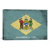 iCanvas Delaware Flag, Grunge Wood Boards Painted Graphic Art on Canvas