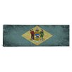 iCanvas Delaware Flag, Panoramic Grunge Graphic Art on Canvas