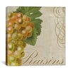 "iCanvasArt ""Fruits Classique III (Raisins)"" Canvas Wall Art by Color Bakery"