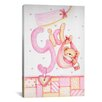 iCanvasArt Kids Children It's a Girl with Teddy Bear Painting Print Canvas Wall Art