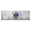 iCanvasArt Coast Guard Flag, Metal Rivets Panoramic Graphic Art on Canvas