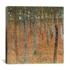 iCanvas 'Forest of Beech Trees' by Gustav Klimt Painting Print on Canvas