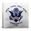 iCanvas Coast Guard Flag, Metal Rivets with Lomo Films Grunge Graphic Art on Canvas