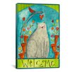 iCanvas 'Kitty Welcome' by Pat Yuille Painting Print on Canvas