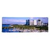 iCanvas Panoramic High Angle View of Boats, Ala Wai, Honolulu, Hawaii Photographic Print on Canvas