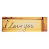 iCanvasArt Panoramic Close-up of I Love You Written on a Wall Photographic Print on Canvas