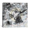 <strong>iCanvasArt</strong> Male Canadian Moose #3 Graphics Art on Canvas