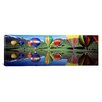 iCanvas Panoramic Reflection of Hot Air Balloons on Water Colorado Photographic Print on Canvas