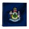 iCanvas Maine Flag, Lobster Grunge Graphics Art on Canvas