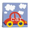 "iCanvas Erin Clark ""Red Car"" Canvas Wall Art"