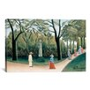 <strong>iCanvasArt</strong> 'Luxembourg Gardens (Monument to Chopin) 1909' by Henri Rousseau Painting Print on Canvas