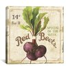 "<strong>iCanvasArt</strong> ""Red Beets (On Special III)"" Canvas Wall Art by Lisa Audit"