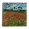 """<strong>iCanvasArt</strong> """"Poppy Field"""" Canvas Wall Art by Vincent van Gogh"""