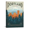<strong>iCanvasArt</strong> 'Portland, Oregon' by Anderson Design Group Vintage Advertisement on Canvas