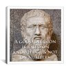 iCanvasArt Plato Quote Canvas Wall Art