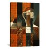 iCanvasArt 'Playing Cards and Glass of Beer' by Juan Gris Painting Print on Canvas