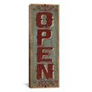 iCanvas Decorative Art 'Open - Red' by Susan Clickner Textual Art on Canvas