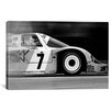 iCanvas Cars and Motorcycles Porsche 956 Racecar Grayscale Photographic Print on Canvas
