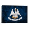 <strong>Louisiana Flag, Alligator Grunge Graphic Art on Canvas</strong> by iCanvasArt