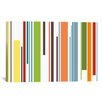 iCanvasArt Striped Pastel Piano Keys Graphic Art on Canvas