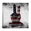 iCanvas Peace Hand Sign, USA Flag Graphic Art on Canvas
