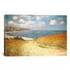 <strong>iCanvasArt</strong> 'Path Through the Corn at Pourville' by Claude Monet Painting Print on Canvas