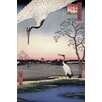 iCanvasArt Ando Hiroshige 'One Hundred Famous Views of Edo 102' by Utagawa Hiroshige l Graphic Art on Canvas
