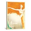 <strong>iCanvasArt</strong> 'Orange Splash Ballerina' by Anderson Design Group Painting Print on Canvas