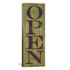 iCanvas Decorative Art 'Open - Green' by Susan Clickner Textual Art on Canvas