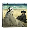 "iCanvas ""On the Beach"" Canvas Wall Art by Edouard Manet"