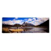 iCanvasArt Panoramic Mountain Bikers Vermilion Lakes Alberta Canada Photographic Print on Canvas