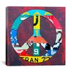 "iCanvasArt ""Peace"" Canvas Wall Art by David Bowman"
