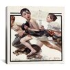 <strong>iCanvasArt</strong> 'No Swimming' by Norman Rockwell Painting Print on Canvas
