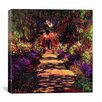 "<strong>iCanvasArt</strong> ""Pathway in Garden at Giverny"" Canvas Wall Art by Claude Monet"